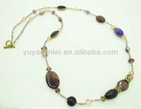 2013 spring brown acrylic beads necklace for women/Fashion jewelry
