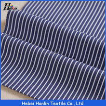 Popular design blue color check stripe cotton shirt fabric