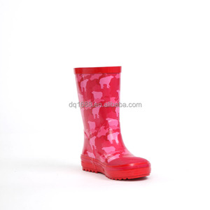 wholesale promotion custom girls neoprene kids rubber rain boots with handle