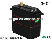 S8166R 160g metal gear 33kg pull 360 degrees