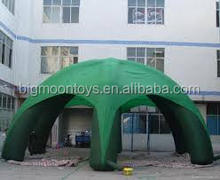 outdoor inflatable green color hot sale inflatable 8m dia spider tent for event using