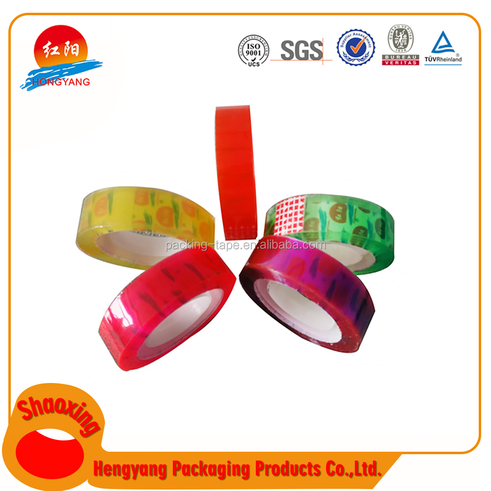 Top Grade Transparent Stationery Bopp Tapes Round Adhesive Tape Decorative Tape Dispenser
