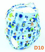 D10 YiWu ChangHe 100% Eco friendly Polyester +Cotton reusable all in one diaper pocket