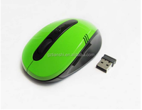 simple 3 D flat design wireless mouse 1600 dpi