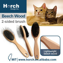 Grooming tool quality wooden handle patented pet pin brush madan