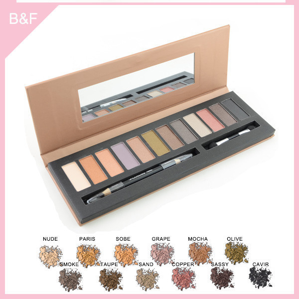 branded eyeshadow makeup palettes make up mirror with printing