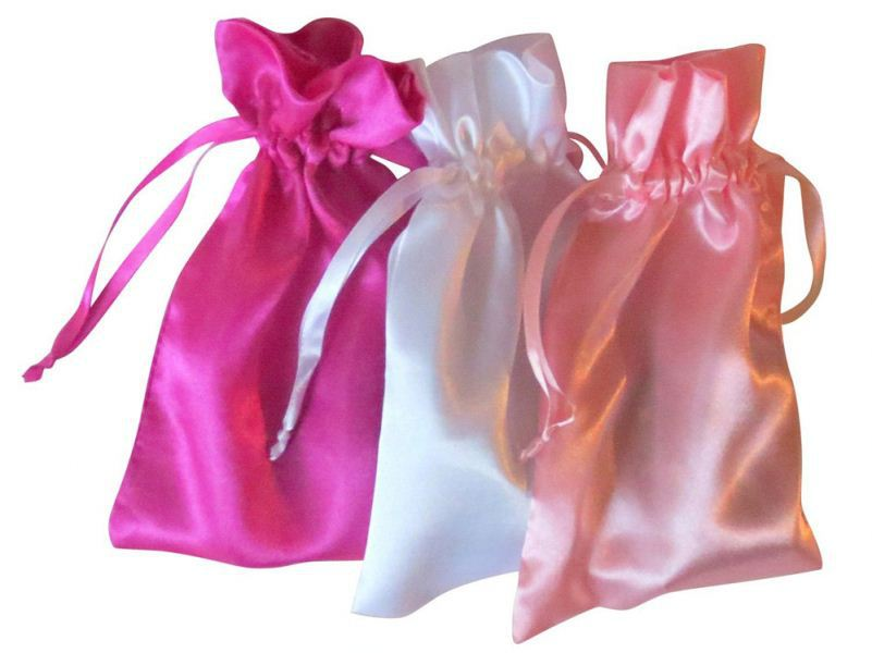 Wholesales satin silk empty tea bag with string