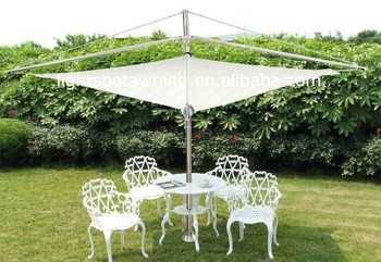 Electric beach and swimming pool shade sail awning