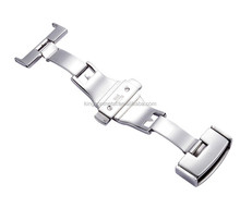 Luxury design watch deployment clasp stainless brushed