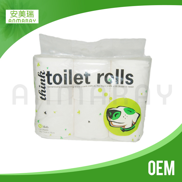 OEM toilet paper rolls and tissues in guangdong factory