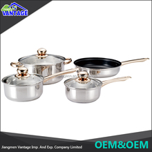 Eco-friendly high quality 7pcs polishing 316 stainless steel cookware