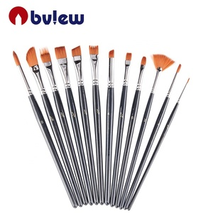 Professional Short Handle Watercolor Acrylic Paint Nylon Brush Set For Painting