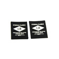 Custom 3D logo label patch epoxy silicone microfiber rubber labels sew on garments