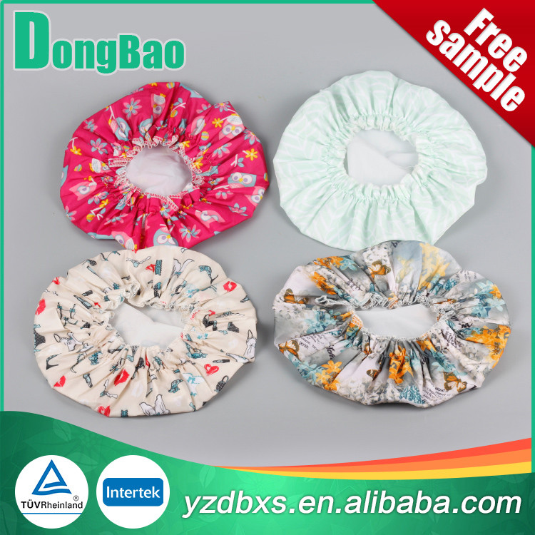 Customized Colorful Logo Printing Waterproof Plastic Shower Cap