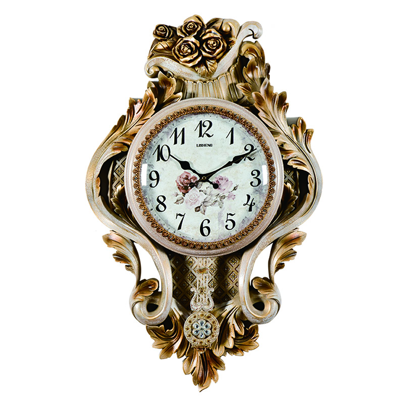 Decorative art wall clock with pendulum H199