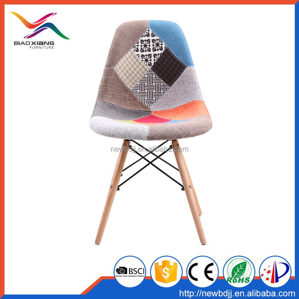Comfortable Living Room Lounge Plastic Chair with Fabric