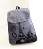 Fashion Vintage Retro Style Eiffel Tower Printing Canvas School Backpack Bag Travel Satchel Bag Rucksack For Girls Women Teens
