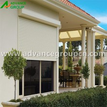 Electric stable roller shutter exterior window