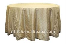 Greating!!! ivory/cream pintuck table cloth,taffeta table cloth,crushed/crinkle table cloth