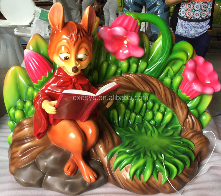 Outdoor funny resin animal shape chair for playground
