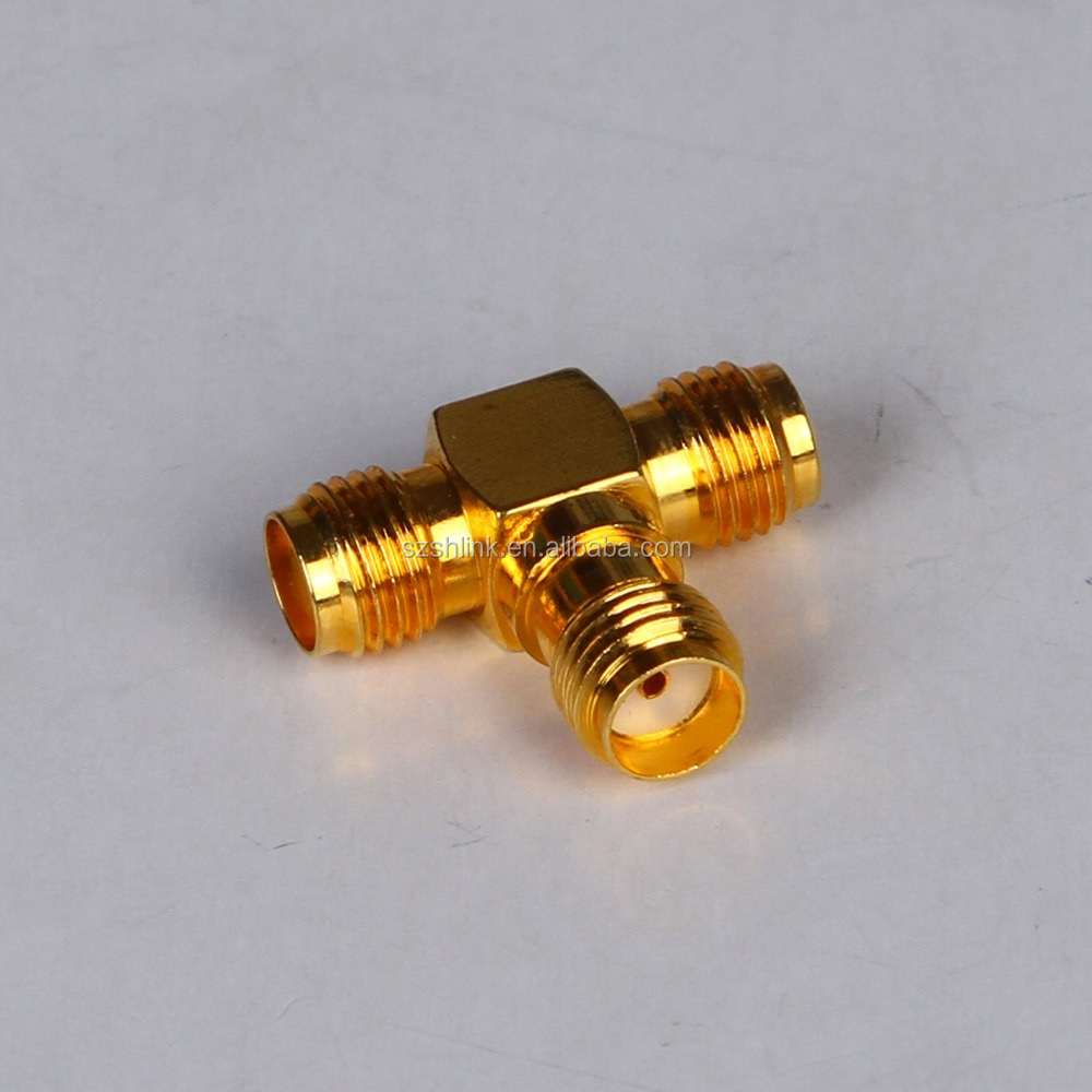 manufacturer china SMA t shape 3 pin connector