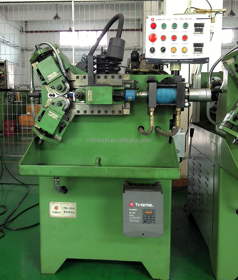 Tobest Automatic Thread Rolling Manufacturing Machines Nuts Bolts Making Machine