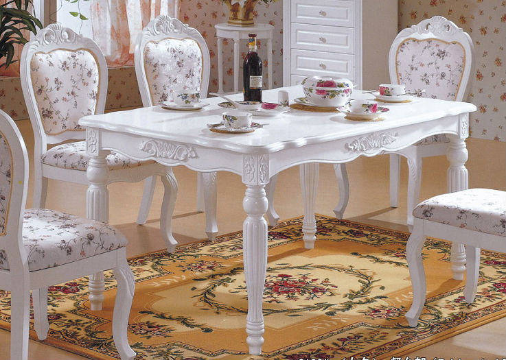 solid wood white color dining <strong>table</strong>