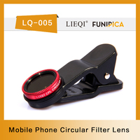 Consumer Electronics Smart phone Camera Lens with black red silver CPL filter Lenses