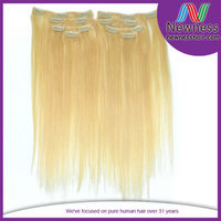 For Black Women 100% Indian Remy Human Clip In Hair Extension