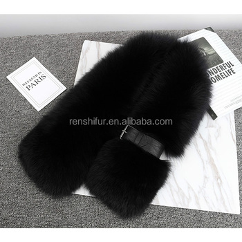 new design fashion girl lady real fox fur scarf
