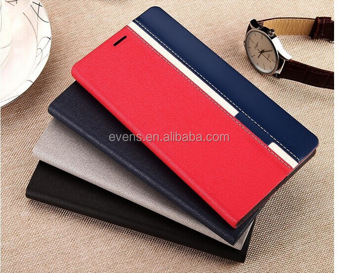 Contrast color Fashion PU Leather Wallet Flip Mobile Phone Case Cover For LG P970