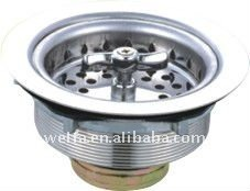 Kitchen sink basket strainer stainless steel
