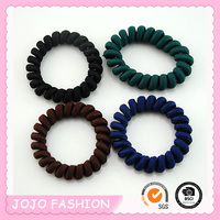 New arrival fabric wrapped telephone cord hair accessories hair bands/
