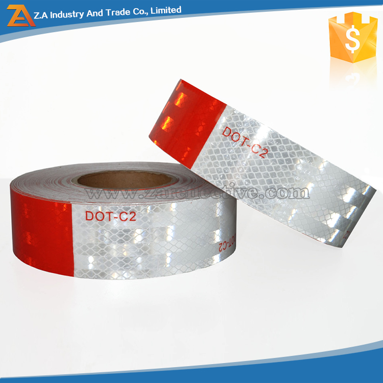 High Intensity Grade Vehicles Wrap Roll ,DOT-C2 Prismatic Reflex Tape,Reflecting Truck Rear Plastic Film Sticker Paper Materials