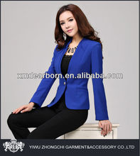 blue ladies stylish pant suit