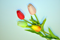 red tulip artificial flower home decor table centerpieces