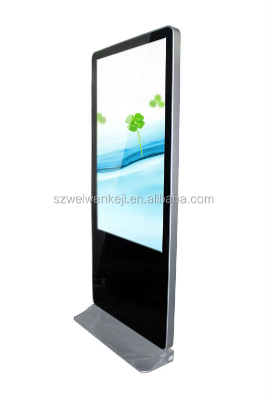 42inch with LG lcd floor stand monitor advertising Android network 3G WiFi showroom display kiosk
