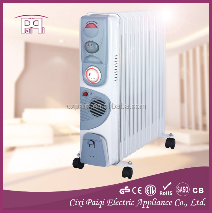 Oil filled heater with timer, 13 fins oil filled radiator heater