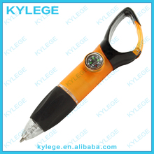 Hook Plastic Ball Point Pen with Compass