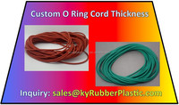Extruded Solid Silicone NBR EPDM FKM FPM Viton Fluorine Rubber O Ring Cord In Custom Thickness
