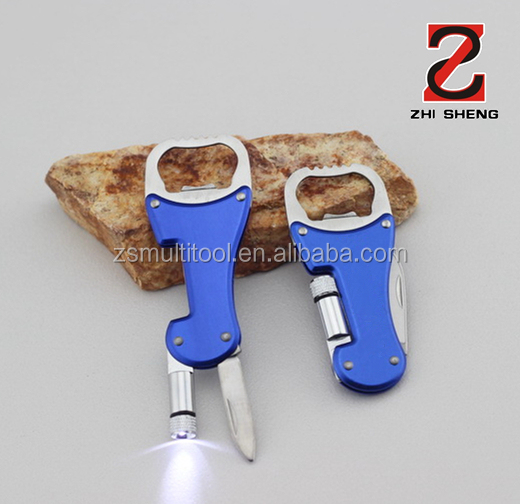 ZS-TB005 multifunctional bottle opener, folding knife, multifunctional keyring tool