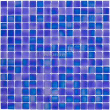 Modern Blue swimming pool tile dots glass mosaic in cheap price