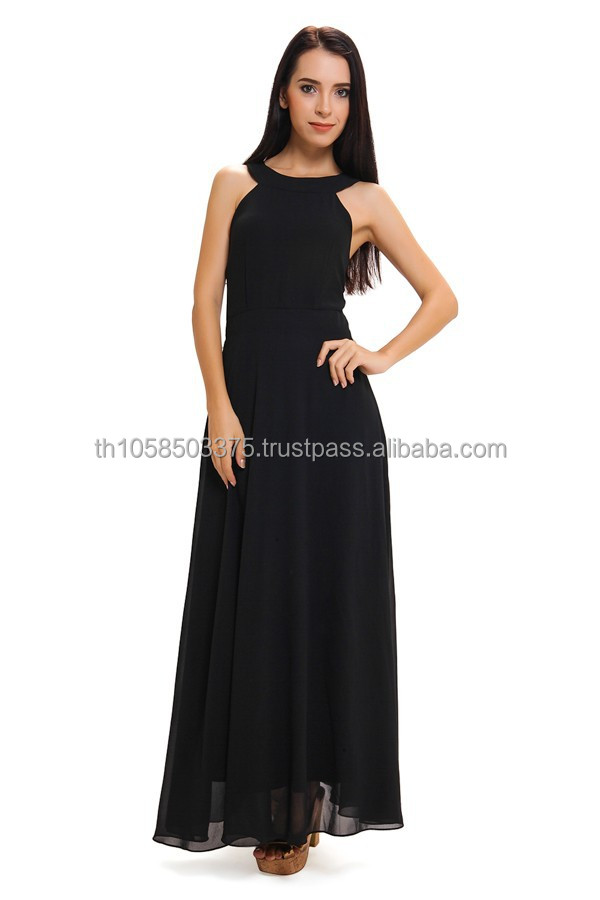 LZ009 Onix Coal Maxi Dress | Marisara