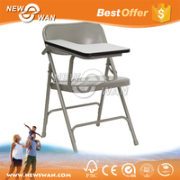 metal folding chair with writing pad / school chair with writing pad / used padded folding chairs