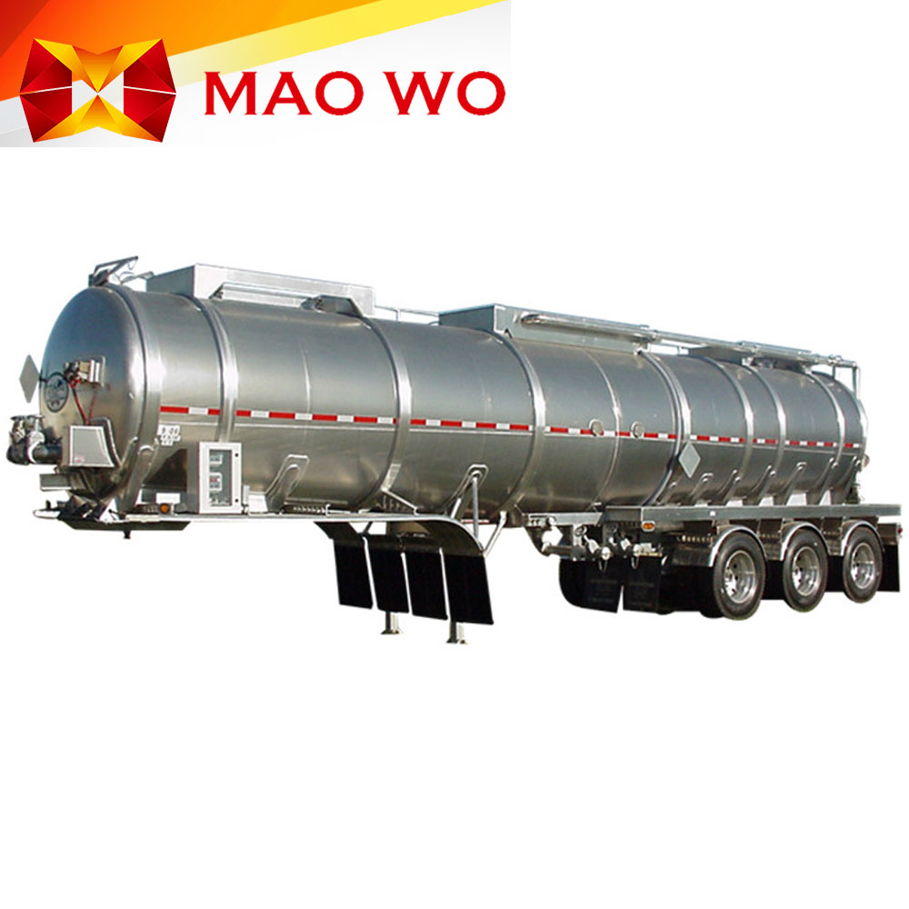 3 axle aluminum diesel gas and oil tanker semi trailer for sale