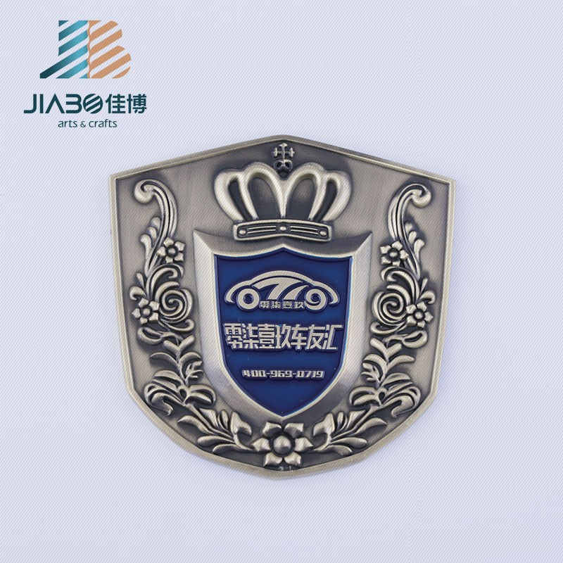 high quality brass material custom design metal name plate