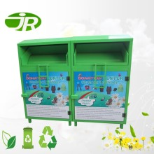 Public Metal Textiles Clothing Donation Container Clothes Collection Bins