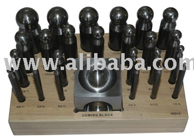 25 piece Doming Punch & Block Set