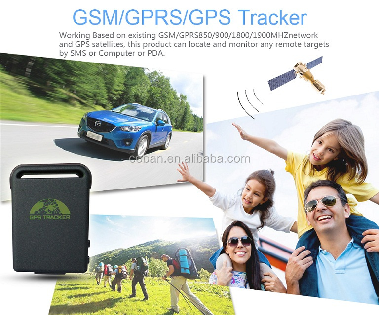 Guangdong Shenzhen Coban mini gps tracking system tk102 without sim card for kids/cars