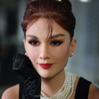 wax figures for sale of world famous female England actor Audrey Hepburn silicone doll